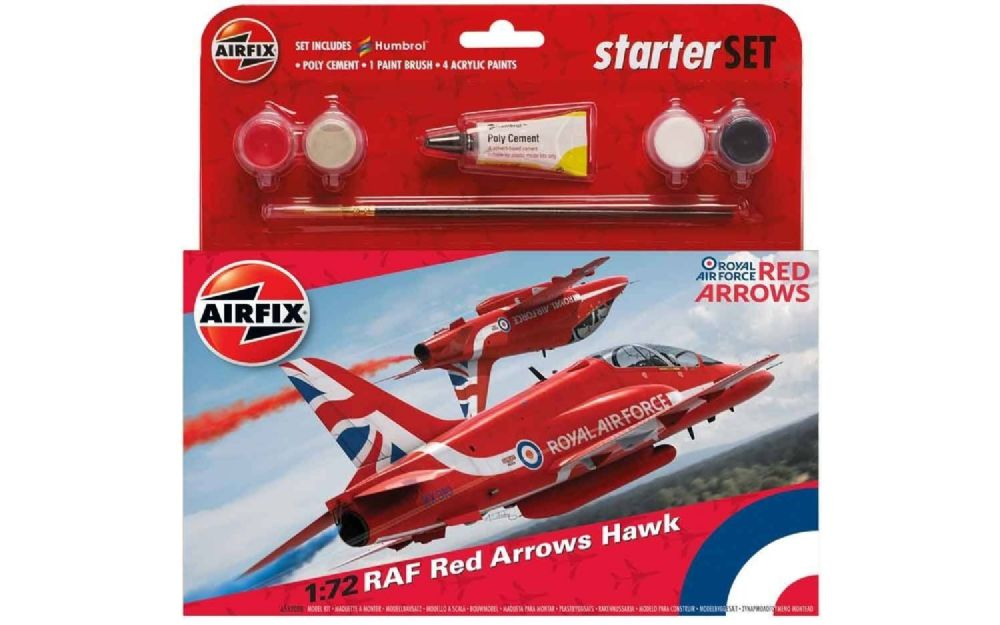 AIRFIX A55202C RAF RED ARROWS HAWK Starter Kit 1:72